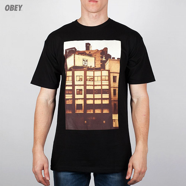 Футболка OBEY All City Icon Photo (Black, XL) black diamond icon