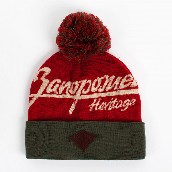 Шапка ЗАПОРОЖЕЦ Original Logo Pom (Heritage-Red-Green) шапка запорожец zap classic logo sky brown yellow