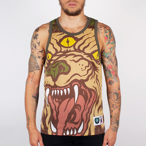 Майка MISHKA Beast Of The East Tank (Army, S) the lonely beast