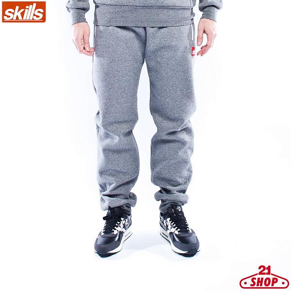 Брюки SKILLS Art001 (Dk-Grey-Melange, M) футболка skills 3d raglan grey melange xs