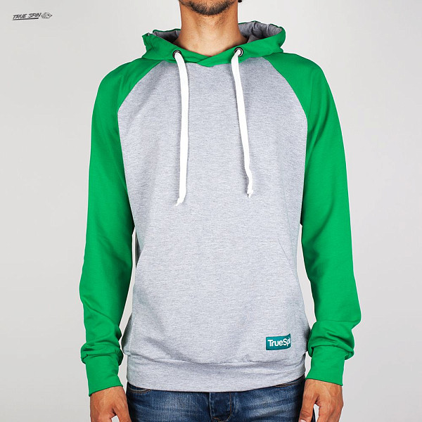Толстовка TRUESPIN Easy Hoody (Grey-Green, L) ellesse toppo overhead hoody athletic grey marl