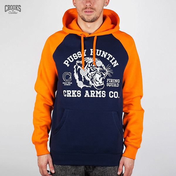Толстовка CROOKS & CASTLES I1370118 (Dark-Navy-Orange, XL) парка loading 5203 dark navy 09311 22 50 xl