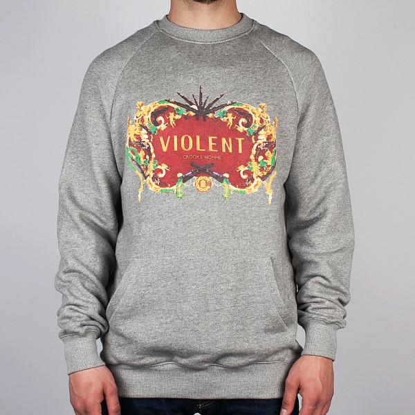 Толстовка CROOKS & CASTLES Violence 2 (Speckle-Grey, M) religion and violence