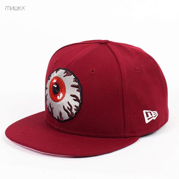 Бейсболка MISHKA Keep Watch New Era FL131703E (Cardinal, 7 1/8) бейсболка mishka new era throwback grey red 7 3 4