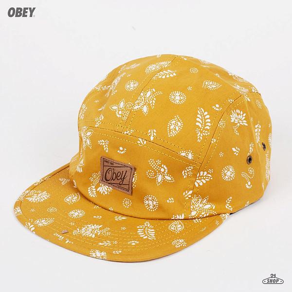 Бейсболка OBEY Yuma 5 Panel (Mustard, O/S)