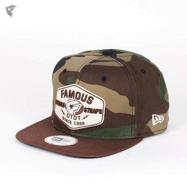 Бейсболка FAMOUS Strike New Era Snap (Woodland-Camo-Brown-Tan, O/S) бейсболка new era huf flag tan