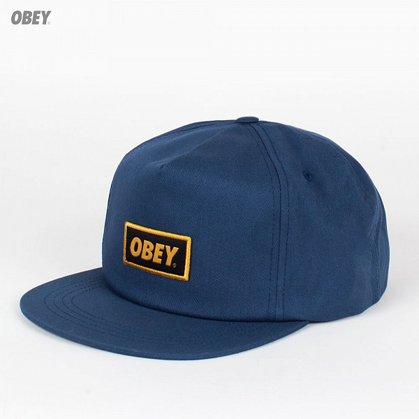 Бейсболка OBEY Stock Snap (Dusty-Navy, O/S) circa rtd snap back navy caramel