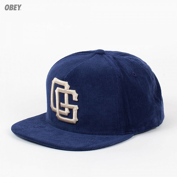 Бейсболка OBEY Triple Og Snap (Dusty-Navy, O/S) circa rtd snap back navy caramel
