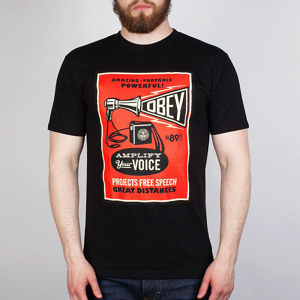 Футболка OBEY Amplify Your Voice (Black, M) футболка obey wild in the streets 3 black m