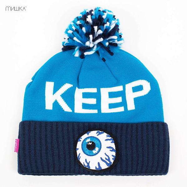 Шапка MISHKA Keep Watch Knit Pom Beanie (Cyan) шапка mishka lamour keep watch beanie black