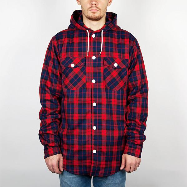 худи clwr clwr cl003emtqu27 Рубашка CLWR Hooder Shirt (Red-Check, L)