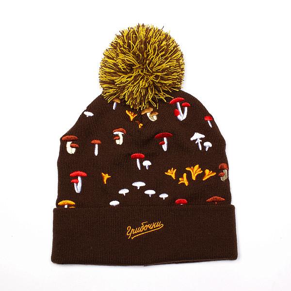 Шапка ЗАПОРОЖЕЦ Gribochki FW17 (Brown) шапка запорожец zap classic logo sky brown yellow
