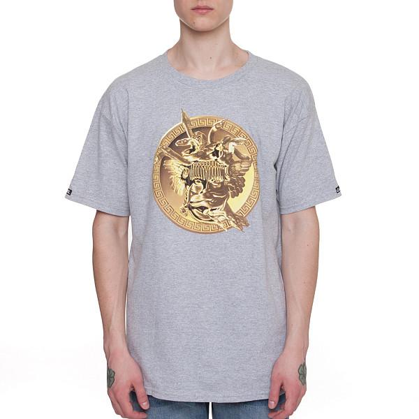 Футболка CROOKS & CASTLES Gold Plated Medusa Crew T-Shirt (Heahter Grey-2, XL) puma носки puma unisex crew 2p suede