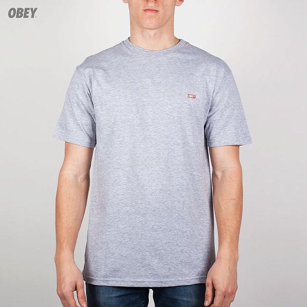 Футболка OBEY Quality Dissent Tee (Heather-Grey, S) reigning champ gym logo ss tee heather grey