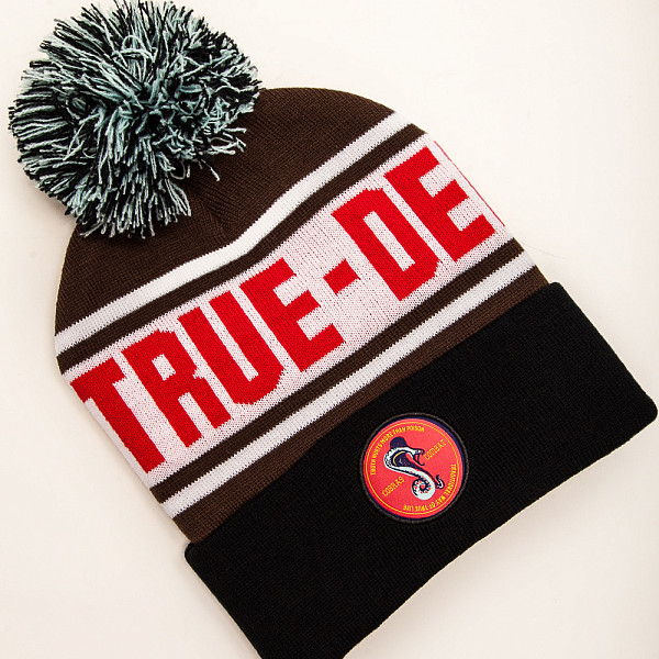 Шапка TRUESPIN Cobra Pom Beanie (Brown/White/Black) cobra ru935 ст black