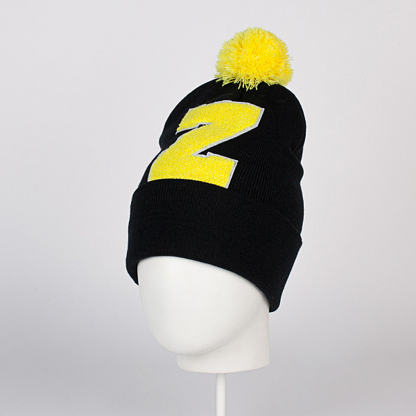 Шапка TRUESPIN ABC Pompom Beanie (Black/Yellow-Z) wms 550 casino game pcb gambling board 8 lines must use touch screen play the game support bill accepter for slot game machine