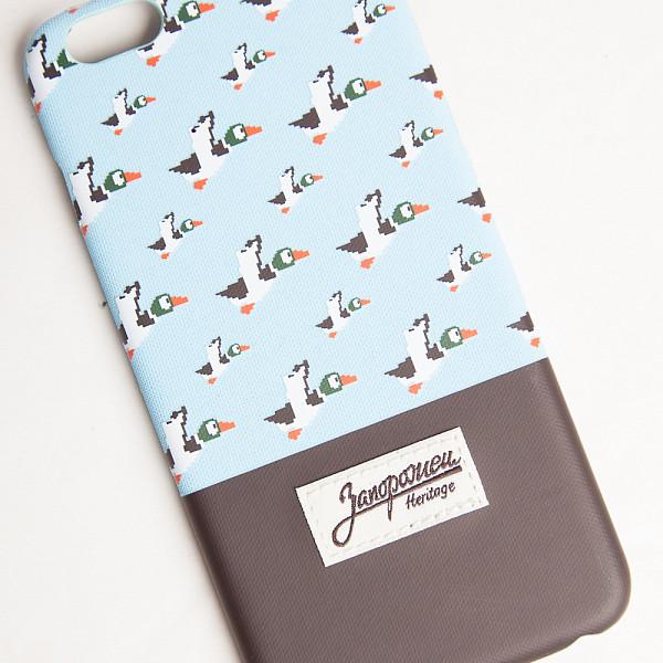 Чехол ЗАПОРОЖЕЦ Дичь86 (Blue/Dark Brown, iPhone 6+) аксессуар чехол elari для elari cardphone и iphone 6 plus blue