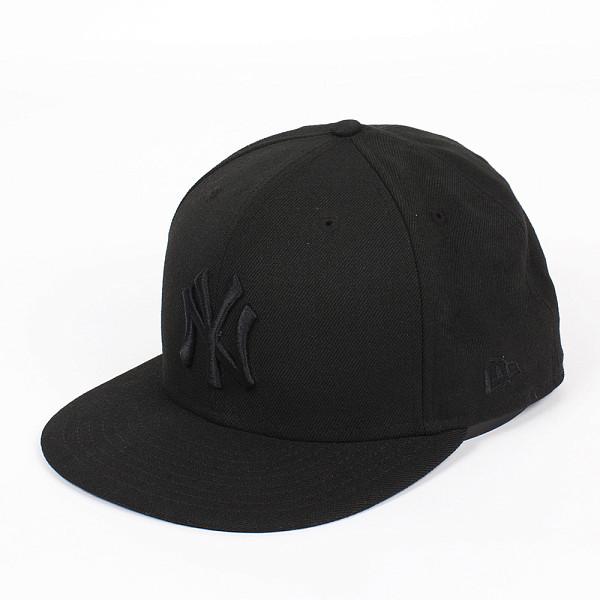 Бейсболка NEW ERA Black On Black NY (Black, 7 1/8)