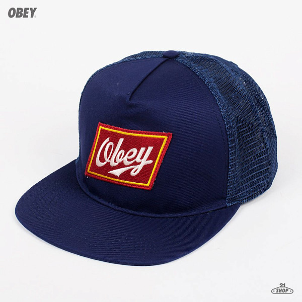 Бейсболка OBEY Malt Liquor Trucker (Navy, O/S) best price 2 pin noise reduction concealment air duct earpiece for walkie talkie two way radio black c002
