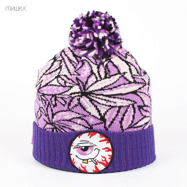 Шапка MISHKA Keep Watch Mr Nice Guy Beanie (Purple-Kush) шапка mishka lamour keep watch beanie black