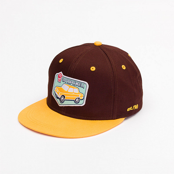 Бейсболка ЗАПОРОЖЕЦ Авто Снэп (Brown/Yellow, O/S) шапка запорожец zap classic logo sky brown yellow