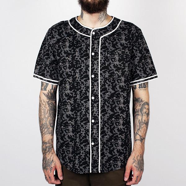 Рубашка CROOKS & CASTLES Infantry Baseball Jersey (Black Digi Camo, S)