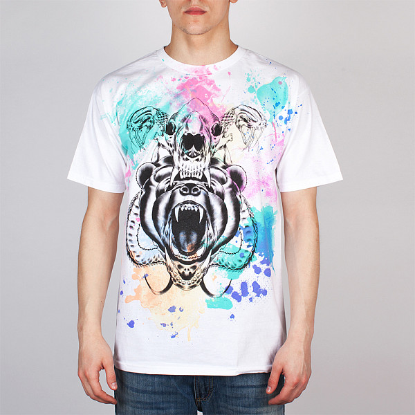 Футболка MISHKA Kidrobot D.A. Watercolor Tee (White, M) звездочка для мотоциклов new honda hornet 250 cbr250 mc19 22 428