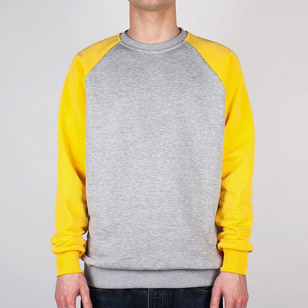 Толстовка SKILLS Easy Raglan Crewneck (Grey-Yellow, XL) skills шапка skills 001 yellow