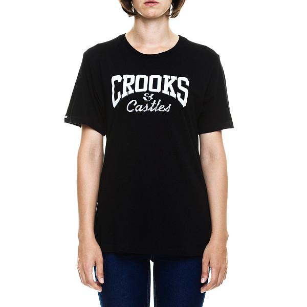 Футболка CROOKS & CASTLES W Metal Core Logo Crew T-Shirt (Black, M) stone island compass logo crew neck black