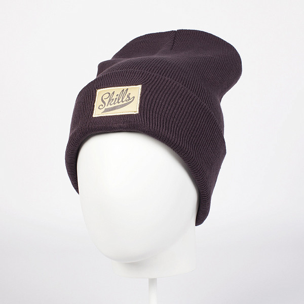 Шапка SKILLS Script Patch Beanie (Purple) шапка skills script fw15 black