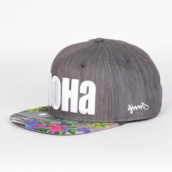 Бейсболка DJINNS Denim Aloha 6 Panel Snapback (Grey, O/S) женская футболка hic 1 t t hic 5554