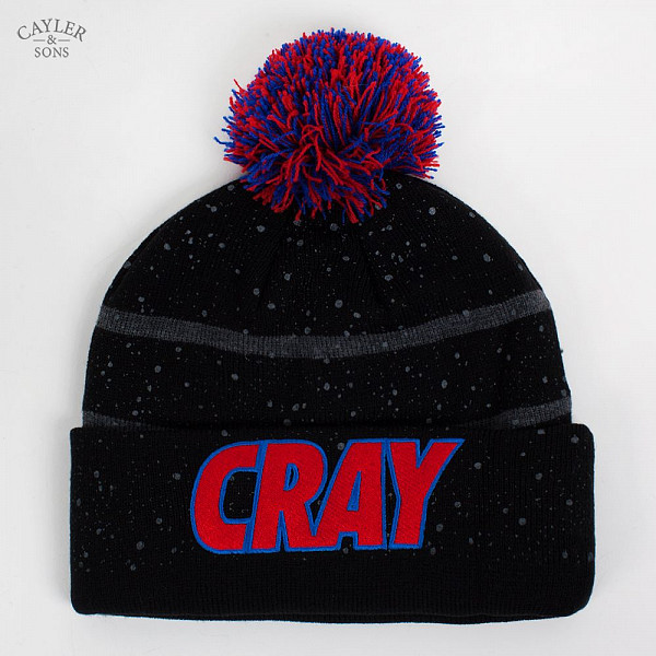 цена  Шапка CAYLER & SONS Cray Pom Pom Beanie (Black-Red-Grey)  онлайн в 2017 году