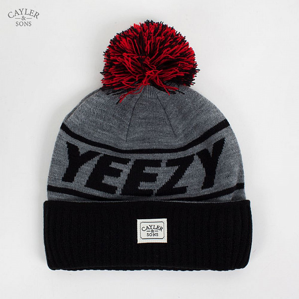 Шапка CAYLER & SONS Yeezy Pom Pom Beanie (Navy-Grey-Red) джемпер liu jo jeans liu jo jeans li003ewuea61