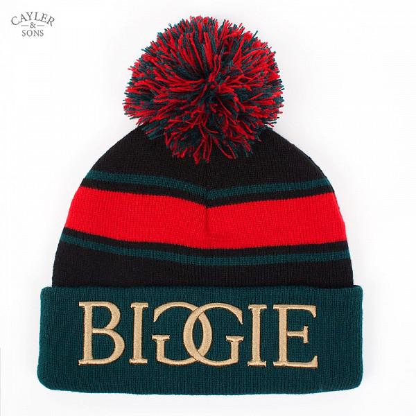 Шапка CAYLER & SONS Biggie Pom Pom Beanie (Black-Green-Red) шапка с помпоном truespin weedy pom beanie red black