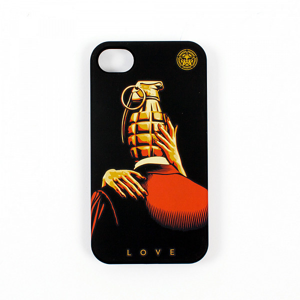 Чехол OBEY Love Is The Drug (IPhone-4/4S-Black) футболка obey wild in the streets 3 black m