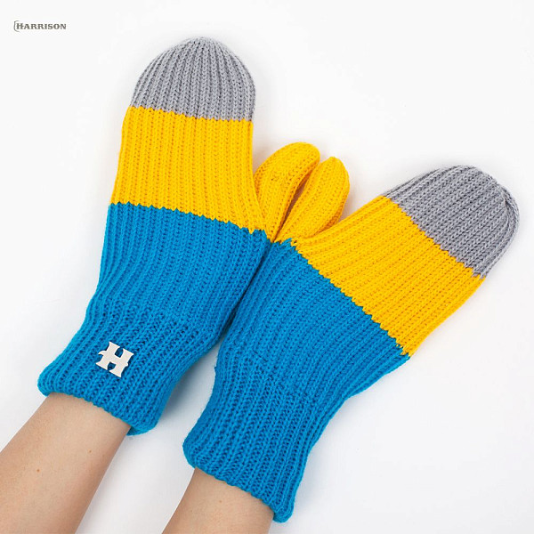 Варежки HARRISON Beatrice Gloves (Yellow-Blue-Grey)  перчатки harrison james gloves beige