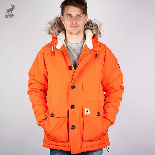 Куртка FAT MOOSE Fat (Orange, M) fat moose ветровка fat moose модель 280200559