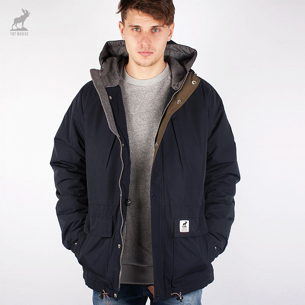 Куртка FAT MOOSE Inner City (Navy, S) fat moose ветровка fat moose модель 280200559