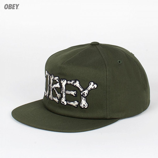 Бейсболка OBEY Brigade Snap (Dark-Olive, O/S) marmot wm s empire jacket dark olive