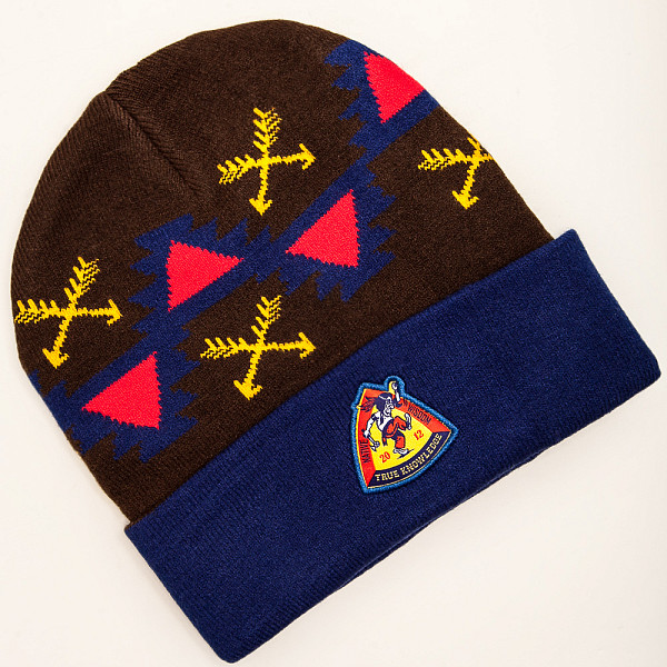 Шапка TRUESPIN Native Wisdom Classic Beanie (Navy/Brown) шапка запорожец zap classic logo sky brown yellow