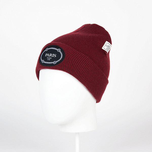 Шапка CAYLER & SONS Paris Beanie (Maroon/Black/White) tsptr fuckin genius white navy