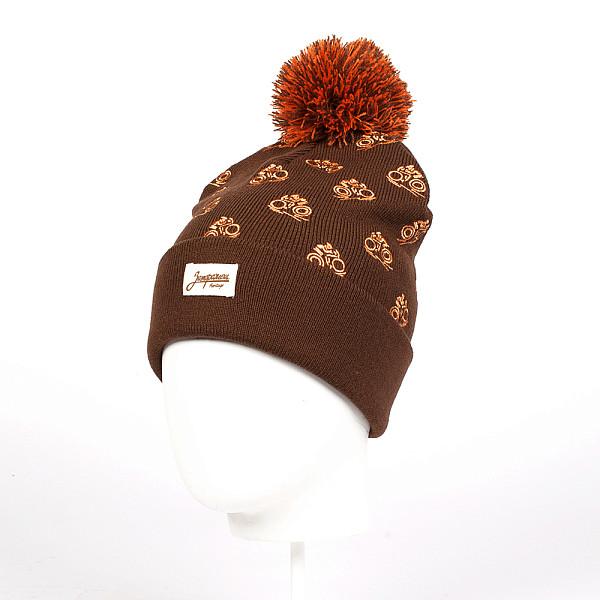 Шапка ЗАПОРОЖЕЦ Velosport (Brown) шапка запорожец zap classic logo sky brown yellow