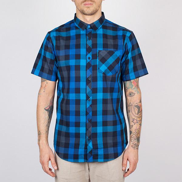 рубашка iriedaily valle bamboo ls shirt mintgrey 462 xl Рубашка IRIEDAILY Valle Shortsleeve (Dark Blue-325, M)