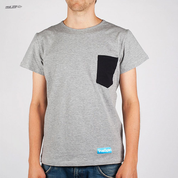 Футболка TRUESPIN Basic Pocket Tee (Grey-Black, L) stabila pocket basic 17773