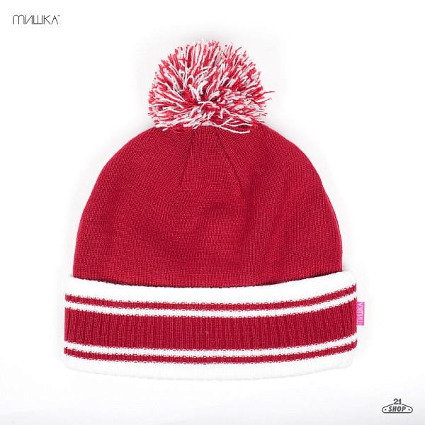 Шапка МИШКА Keep Watch Striped Pom Beanie (Red) шапка mishka lamour keep watch beanie black