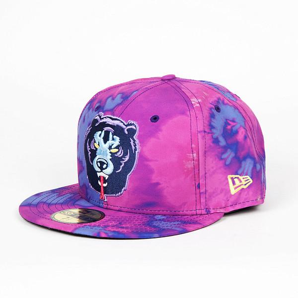 Бейсболка MISHKA Death Adder Tie Dye New Era 5950 (Purple Td, 7 1/8) бейсболка mishka new era throwback grey red 7 3 4