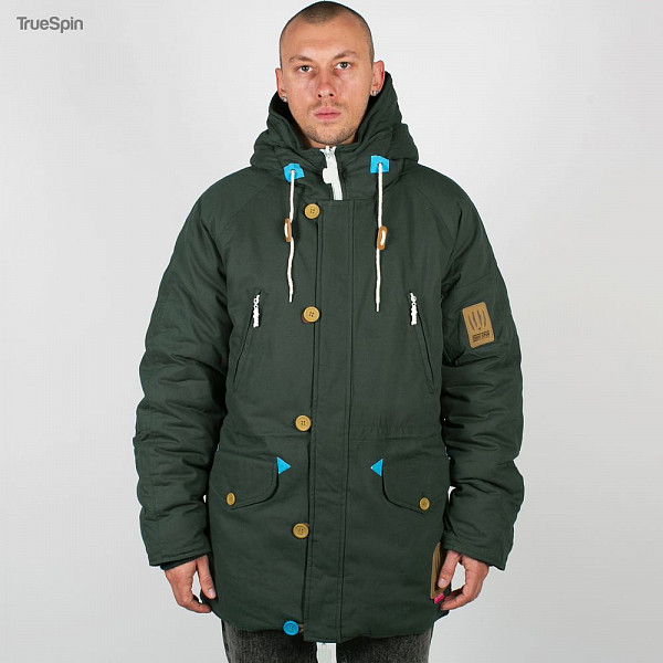 Куртка TRUESPIN Alaska Jacket (Hunter-Green-Leopard, 2XL) куртка truespin s parka black 2xl