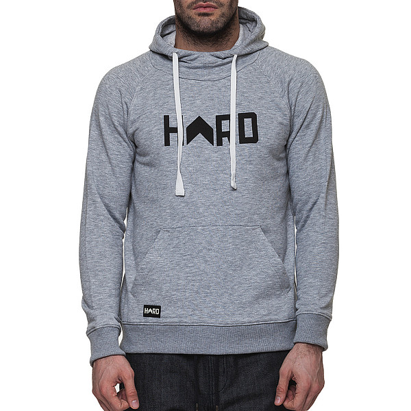 Толстовка HARD Logo Hoody (Grey/Black, XL) ellesse toppo overhead hoody athletic grey marl