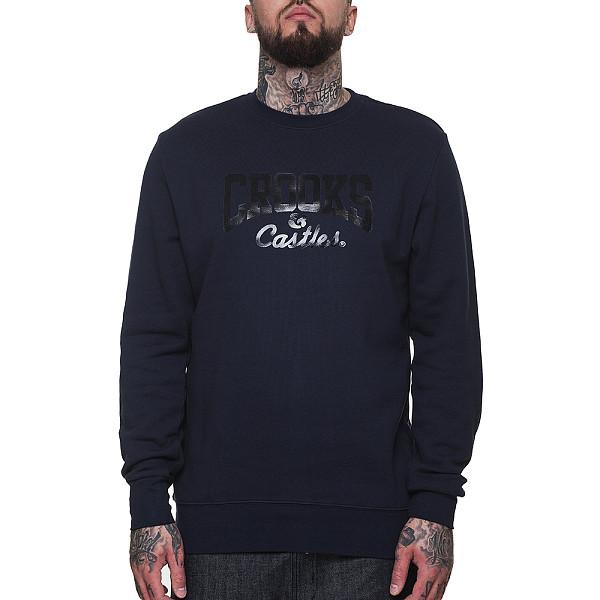 Толстовка CROOKS & CASTLES Core Logo Crew Sweatshirt (True Navy, M)
