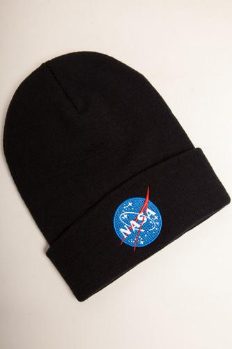 Шапка MISTER TEE NASA Insignia Beanie (Black)